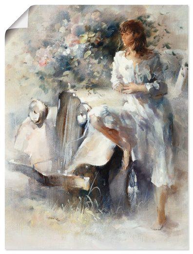 Artland Wandbild »Nostalgie«, Frau (1 Stück), in vielen Größen & Produktarten -Leinwandbild, Poster, Wandaufkleber / Wandtattoo auch für Badezimmer geeignet