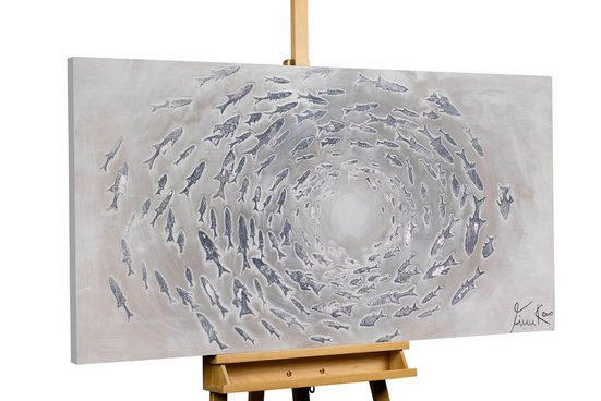 KUNSTLOFT Gemälde »Closing Gap«, handgemaltes Bild auf Leinwand