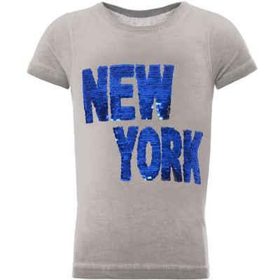 BEZLIT T-Shirt »Jungen T-Shirt mit tollem Wende Pailletten Schrift« (1-tlg) mit Wendepailletten