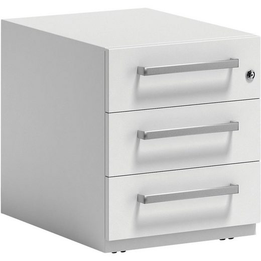 Bisley Container, Rollcontainer »Note« aus Stahl, mit 3 Universalschubladen