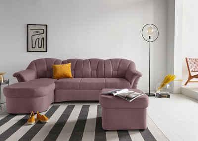 DOMO collection Ecksofa »Papenburg«, in großer Farbvielfalt, wahlweise mit Bettfunktion