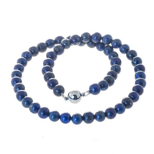 Bella Carina Perlenkette »Kette mit Lapislazuli 8 mm«, mit Magnetverschluss