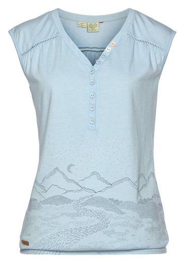 Ragwear Shirttop »SALTY B« mit platziertem Berge-Landschaftsprint