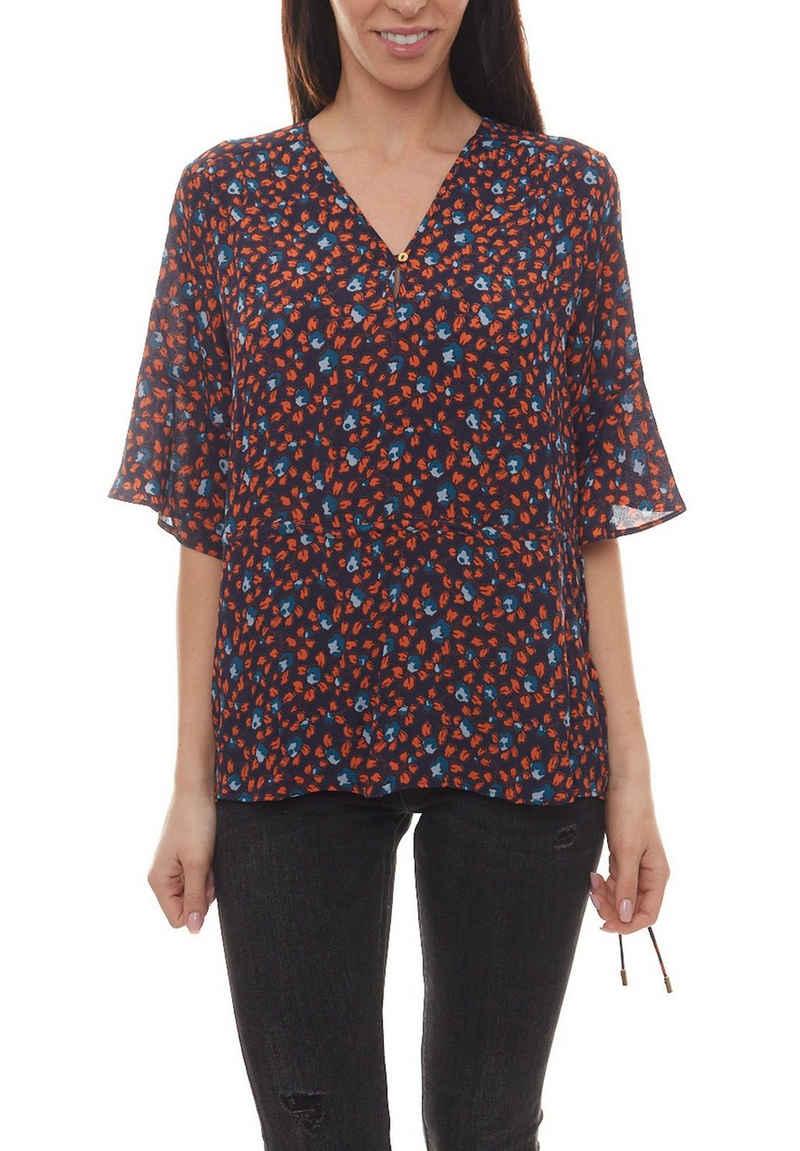 NOA NOA Shirtbluse »NOA NOA Bluse lockeres Damen Blusen-Shirt mit Blumen-Muster Freizeit-Shirt Blau/Bordeaux/Rot«