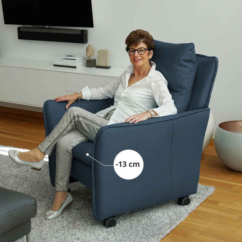 PLACE TO BE. Relaxsessel, Relaxsessel Insideout Wheels small - 13 cm schmaler