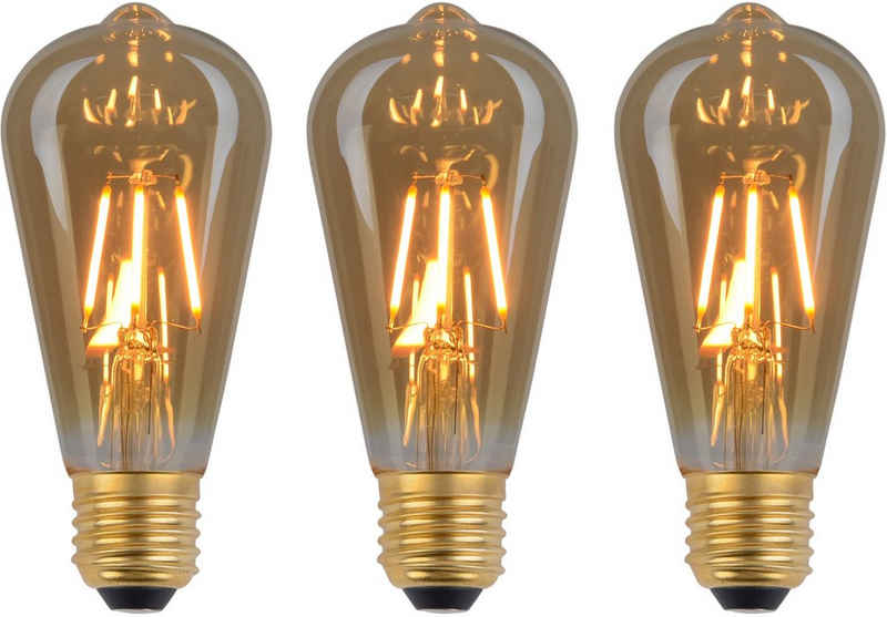 näve »LED Leuchtmittel E27/4W 3er-Set« LED-Leuchtmittel, E27, 3 Stück, Warmweiß, Set - 3 Stück, dimmbar