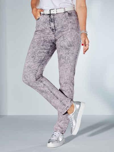 MIAMODA Slim-fit-Jeans in Moonwashed Optik