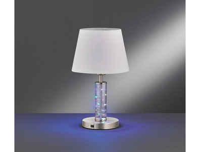 FHL easy! LED Tischleuchte, große Nachttischlampe mit & Farbwechsel Lichtsäule – Design Bodenleuchte innen als außergewöhnliche Wohnzimmer-Lampe