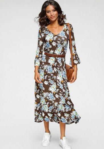 Laura Scott Jerseykleid floral bedruckt in aktueller Midilänge