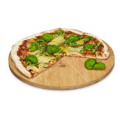 relaxdays Pizzateller »Pizzateller Bambus«