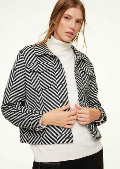 comma casual identity Jackenblazer »Jacke mit Stripes-Muster«