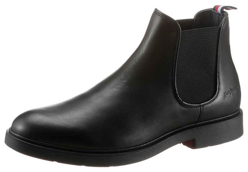Tommy Hilfiger »ELEVATED ROUNDED LTH CHELSEA« Chelseaboots mit gestreifter Anziehlasche