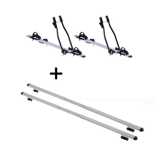 VDP Fahrradträger, 2x Fahrradträger SAGITTAR + Dachträger RAPID kompatibel mit Dr dr 3 (5Türer) ab 16