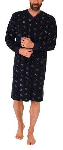 Normann Nachthemd »Herren Frottee Nachthemd langarm mit Bündchen - auch in Übergrössen - 291 110 93 454«