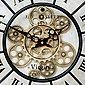 K&L Wall Art Wanduhr »Große Metall Wanduhr 46cm Vintage Uhr« (rotierende, goldene Zahnräder, Bahnhofsuhr mit großen römischen Ziffern, leises Quarz Uhrwerk), Bild 4
