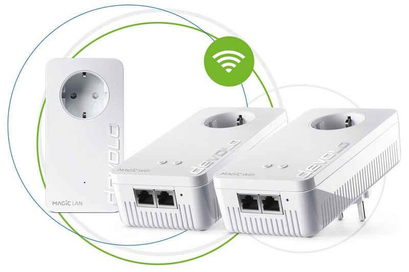DEVOLO »Magic 2 WiFi ac Next Multiroom Kit« Netzwerk-Adapter, 2400Mbit,Powerline+WLAN,5x LAN,Mesh