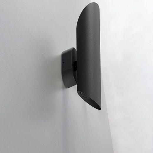 click-licht Deckenleuchte »Wandleuchte Capri in Anthrazit GU10 2-flammig IP44«, Aussenlampe, Aussenwandleuchte, Outdoor-Leuchte