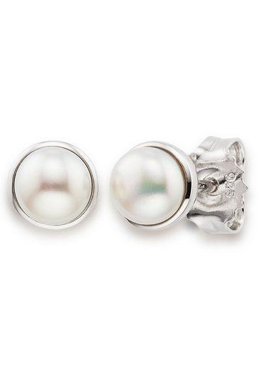 Bruno Banani Paar Ohrstecker »Perlen, B0147E/90/46/1«, mit Süßwasserzuchtperlen