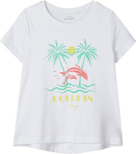 Name It T-Shirt »T-Shirt NMFVIOLET für Mädchen, Organic Cotton«