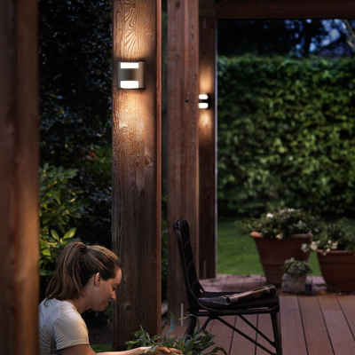 Philips LED Außen-Wandleuchte »Zeitlose myGarden Außenwandleuchte Gras aus Alumin«, Aussenlampe, Aussenwandleuchte, Outdoor-Leuchte