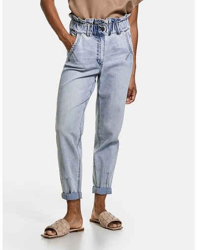 Taifun Stretch-Jeans »High Waist Jeans mit Paperbag Bund« (1-tlg) Hose