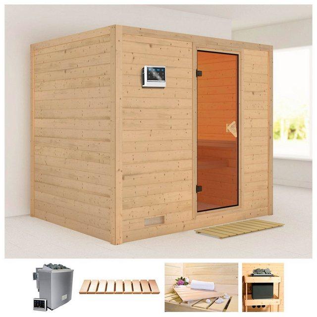 Saunen und Zubehör - KARIBU Sauna »Sonara«, 231x196x198 cm, 9 kW Bio Ofen mit ext. Steuerung  - Onlineshop OTTO