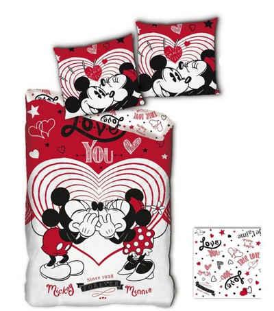 Bettwäsche »Mikrofaser Mickey«, Disney Minnie Mouse, 135-140x200 cm, Kinderbettwäsche