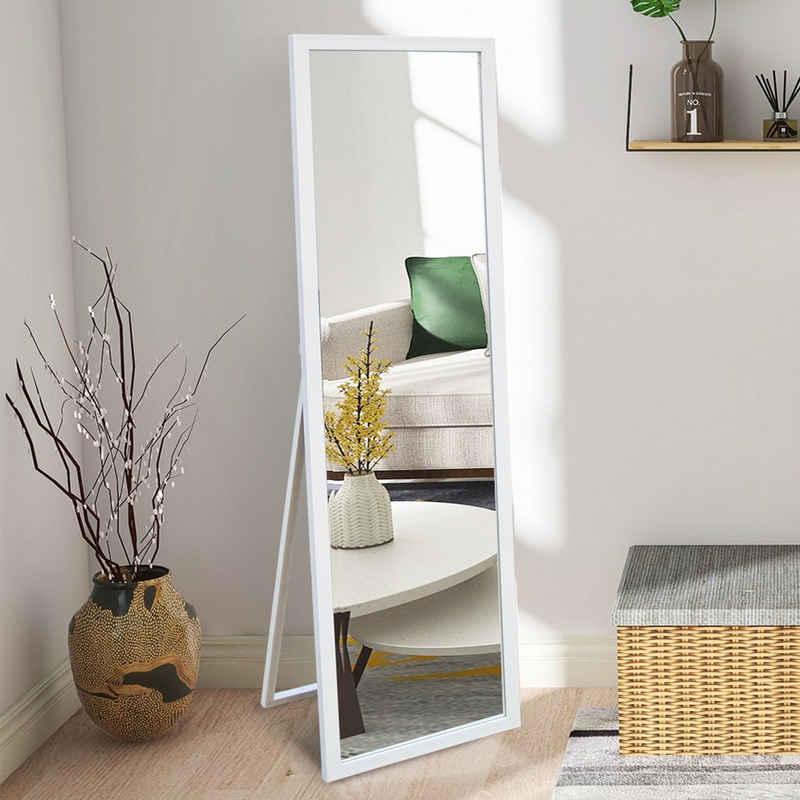 Fortuna Lai Standspiegel, mit faltbarer Halterung und verstellbarem Haken Höhe 140 cm