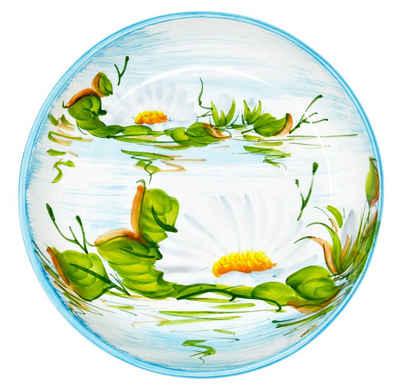 Lashuma Obstschale »Seerose«, Keramik, Flache Servierschüssel, Keramikschale rund Ø 28 cm