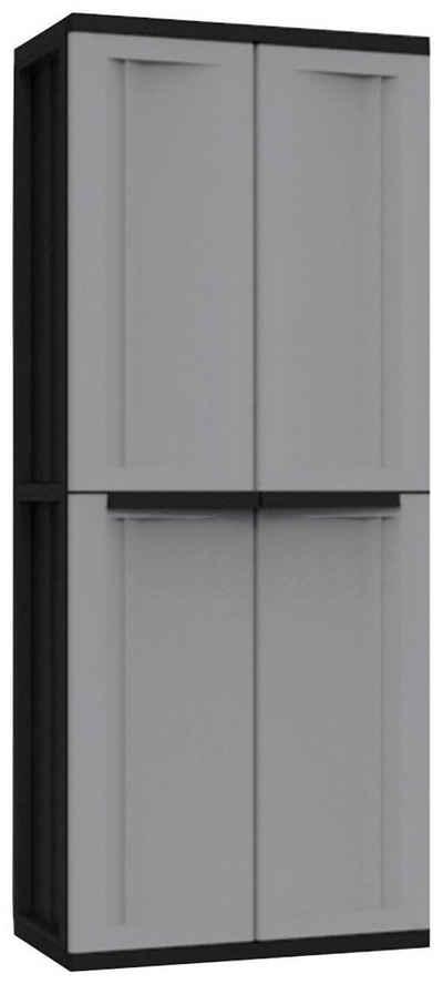 Kreher Mehrzweckschrank »J-twist« B/T/H: 68x37,5x163,5 cm, 4 Einlegeböden, Spindfach, Kunststoff