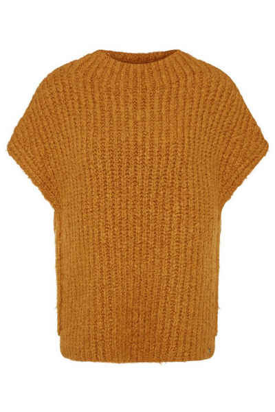 bugatti Rundhalspullover mit Wolle-Anteil