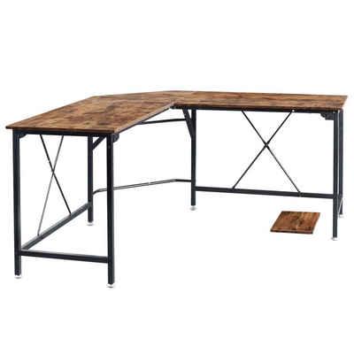 Ribelli Eckschreibtisch, Schreibtisch Eckschreibtisch Computertisch Bürotisch Ecktisch 150 x 55 x 150 cm