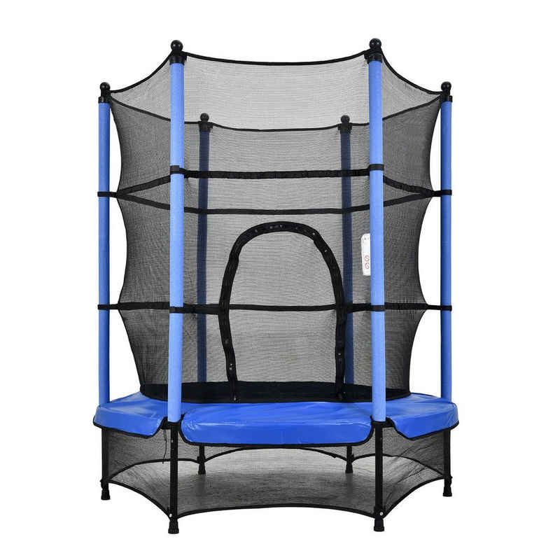 FCH Kindertrampolin »Trampolin mit Sicherheitsnetz«, Kinder 140 cm Indoor Outdoor Gartentrampolin Fitness Sport Jumper Fun