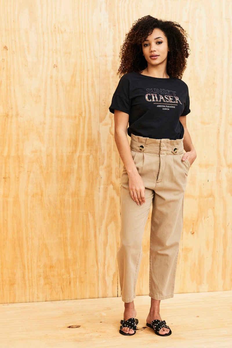 Garcia T-Shirt »D10008« mit Glitzerprint