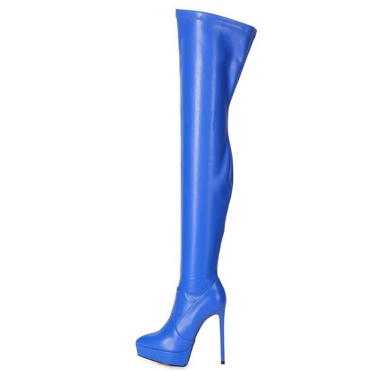 Giaro »Giaro SPIRE Blau Blue Matte Stiefel Kniestiefel Lederstiefel« Overkneestiefel Vegan