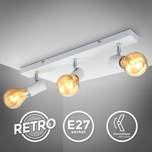 B.K.Licht LED Deckenspot »BKL1362«, schwenkbare vintage Deckenleuchte, 3-flammige retro Deckenlampe, max.60W E27, Landhausstil, Deckenstrahler, ohne Leuchtmittel