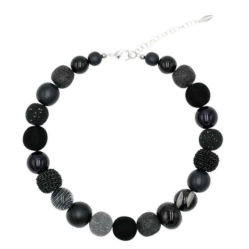 Feliss Perlenkette »Black Beauty« (inkl. Organza-Beutel), 45 cm lang, Made in Germany, mit Glas- und Keramikperlen