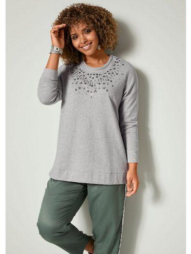 Angel of Style by Happy Size Sweatshirt mit Glanzgarn