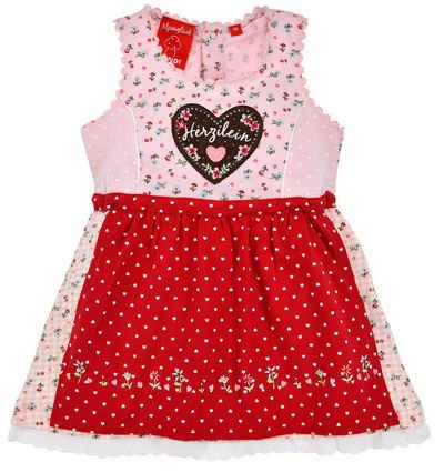 """BONDI Dirndl »Baby Kleid für Mädchen""""Herzilein"""" mit Streublümchen 86433, Rosa Rot«"""