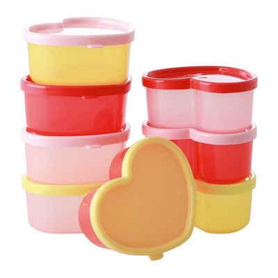 """rice Aufbewahrungsbox »8-tlg. Kunststoff-Lebensmittelbehälter """"Herz""""«"""