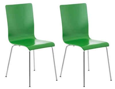CLP Besucherstuhl »Pepe« (2er Set), mit Holzsitz und Metallgestell