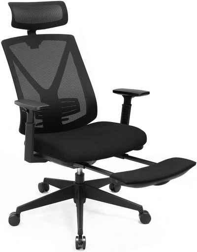 SONGMICS Chefsessel »OBN61BKV1«, Bürostuhl, Drehstuhl, bis 150 kg Belastbar, schwarz