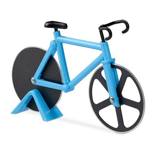 relaxdays Pizzaschneider »Fahrrad Pizzaschneider«
