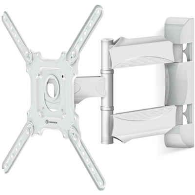 """ONKRON »TV Wandhalterung (M4-WHT)« TV-Wandhalterung, (bis 65,00 Zoll TV-Wandhalterung, 1-tlg., TV-Wandhalterung, neigbar -5° - +8° Grad, schwenkbar bis 180° Grad, ausziehbar (Abstand von der Wand) 55 - 500 mm (2.1"""" - 19.6), Weiß, Metall, 32 - 65 Zoll)"""