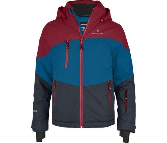Bergson Winterjacke »VOLKER neo« Kinder Skijacke, wattiert, 20000 mm Wassersäule, Normalgrößen, Saphir blau