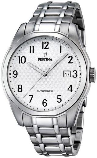 Festina Quarzuhr »UF16884/1 Festina Herren Uhr F16884/1 Analog«, (Analoguhr), Herren Armbanduhr tonneau, rund, Edelstahlarmband silber
