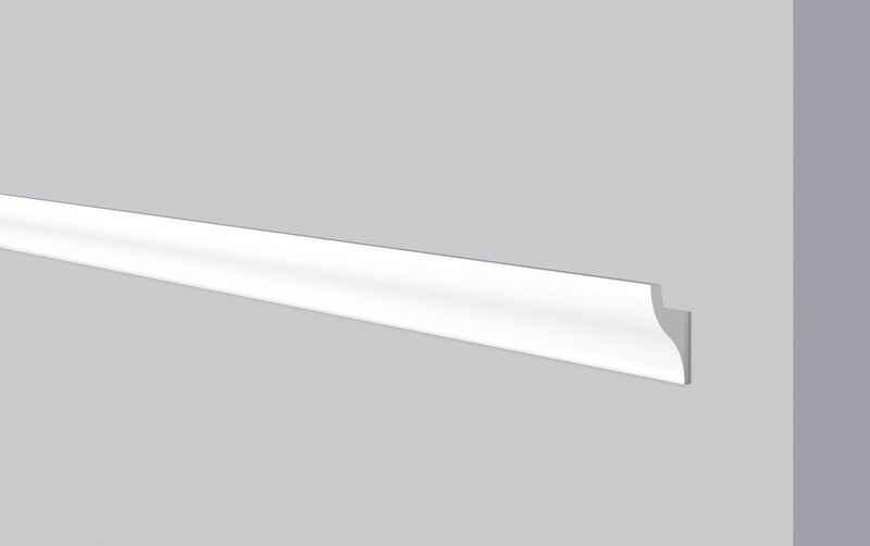 Decoflair Kantenleiste »Decoflair®Lichtleiste CL11«, kleben, Extrudiertes Polystyrol (XPS), Packung, 5-St., mit Aussparung für LED-Lichtleiste für indirekte Beleuchtung