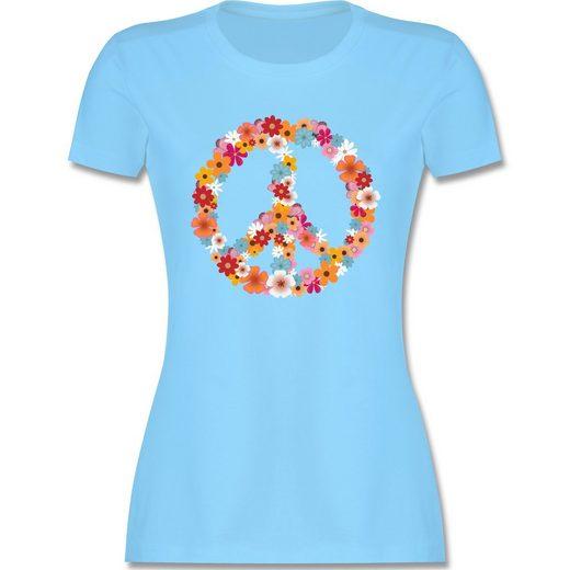 Shirtracer T-Shirt »Peace Flower Power - Damen Premium T-Shirt - T-Shirts« Statement