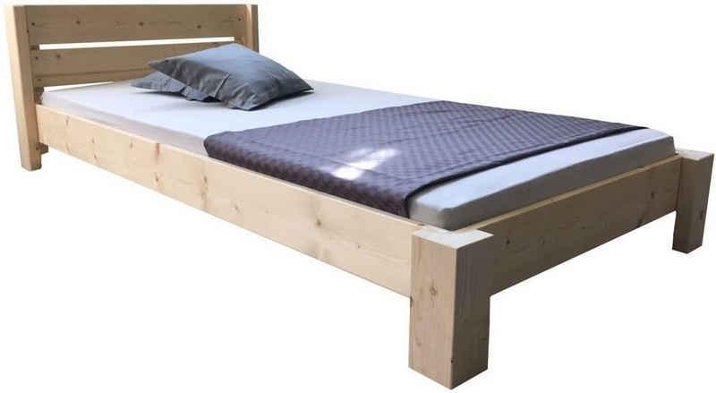 LIEGEWERK Bett »Designbett mit Kopfteil Massivholzbett hergestellt in BRD in 90 100 120 140 160 180 200 x 200cm Bett Holz«