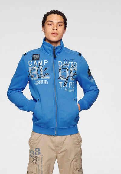 CAMP DAVID Sweatshirt mit Logoschriftzügen
